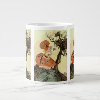 Vintage Little Miss Muffet w Spider Nursery Rhyme Extra Large Mug