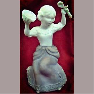 Vintage Little Miss Muffett Photo Sculpture Magnet