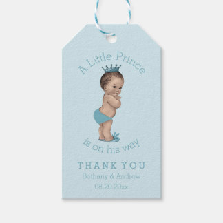 Vintage Little Prince Baby Shower Personalized Pack Of Gift Tags
