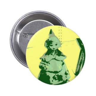 Vintage Little Red Riding Hood Pinback Buttons