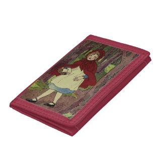 Vintage Little Red Riding hood book art Tri-fold Wallet