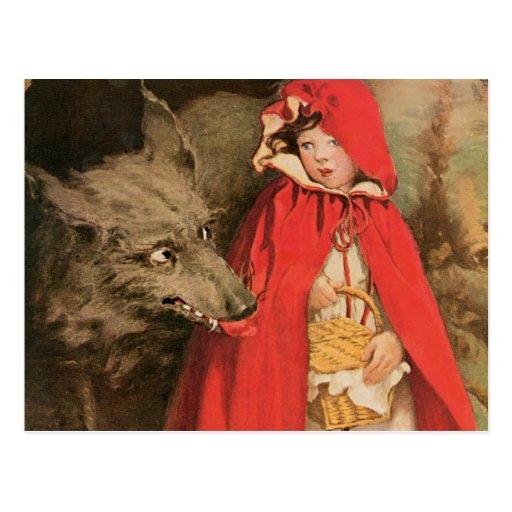 Vintage Little Red Riding Hood Jessie Wilcox Smith Postcard