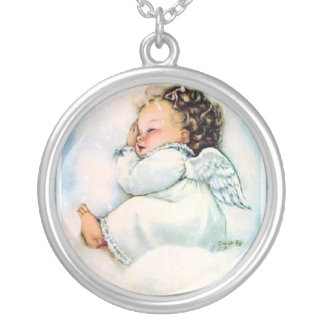 Vintage Little Sleeping Angel Necklace