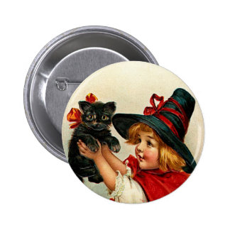 Vintage Little Witch and Black Cat Pins