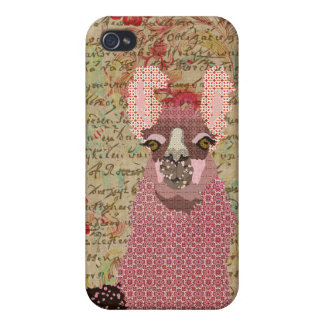 Vintage Llama Love iPhone Case iPhone 4/4S Cover