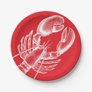Vintage Lobster 7 Inch Paper Plate