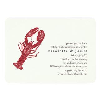 Vintage Lobster Bake Rehearsal Dinner Invitation