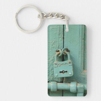 Vintage lock keychain