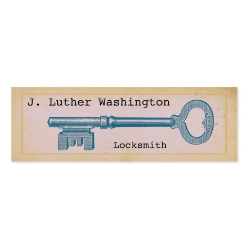 Vintage Locksmith Professional Business Cards Business Card Template