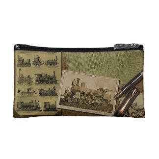 Vintage Locomotive Cosmetics Bag
