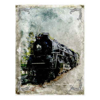 Vintage Locomotive Postcard