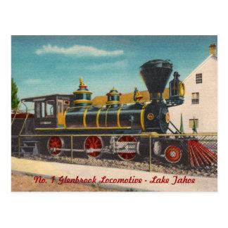 Vintage Locomotive Postcard