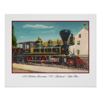 Vintage Locomotive Poster