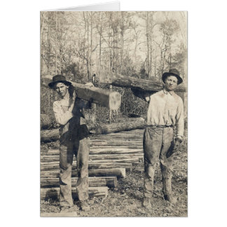 vintage loggers photo card