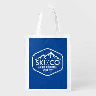 Vintage Logo Ski Mountain Aspen Colorado Custom