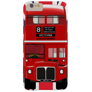 Vintage London Bus and Union Jack Barely There iPhone 6 Plus Case