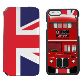 Vintage London Bus and Union Jack Incipio Watson™ iPhone 6 Wallet Case