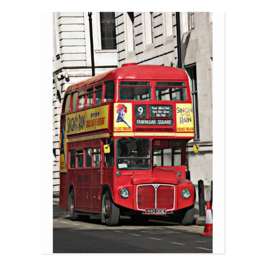 Vintage London Bus Postcard