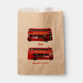 Vintage London Double Decker Bus Favour Bag