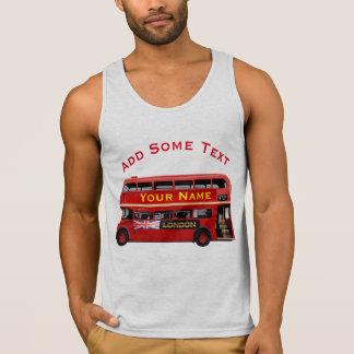 Vintage London Double Decker Bus Singlet