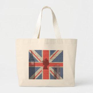 Vintage London Large Tote Bag