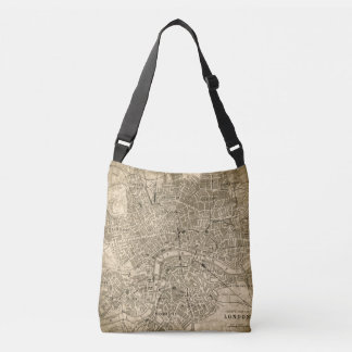 Vintage London Map Travel Messenger Tote Bag