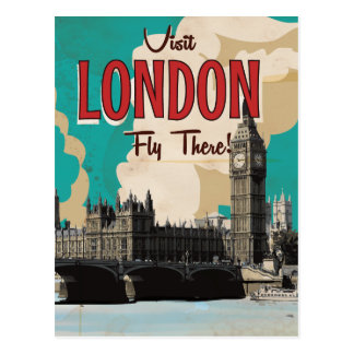 Vintage London Travel Poster Post Card