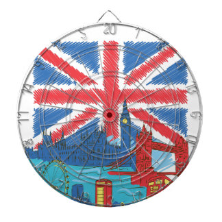 vintage lone flag and cities dartboard