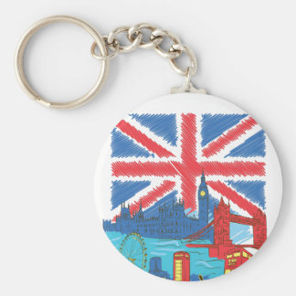 vintage lone flag and cities key ring
