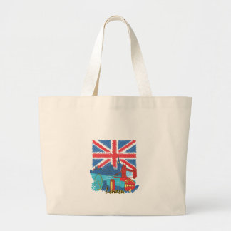 vintage lone flag and cities large tote bag