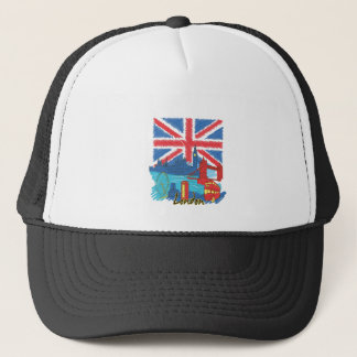 vintage lone flag and cities trucker hat