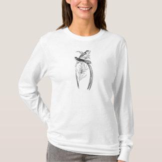 Vintage Long Tailed Widow Bird - Birds Template T-Shirt