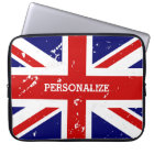 Vintage look British Union Jack flag laptop sleeve