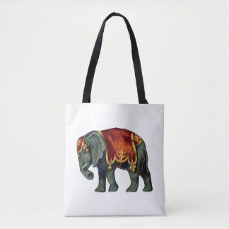 Vintage Look Circus Elephant Tote Bag