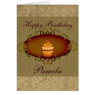 Vintage Look Cupcake Birthday Card