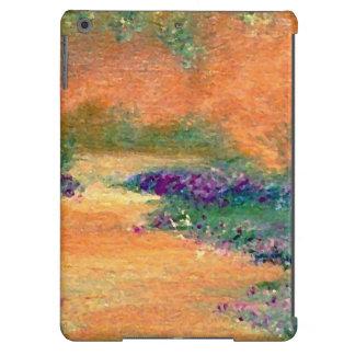 Vintage Look Floral Garden Walk Flowers iPad Case
