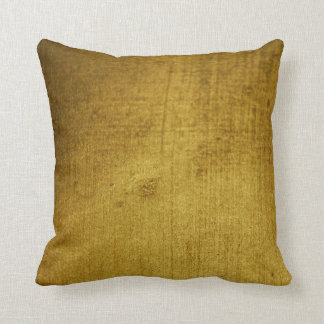 Vintage-Look gold used Throw Pillow