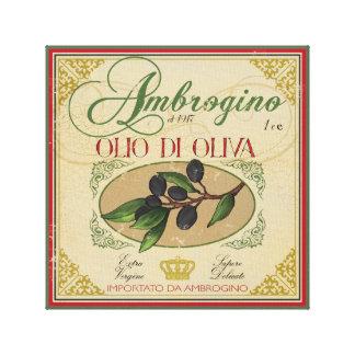Vintage look Italian Retro Label Art Canvas