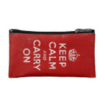 Vintage-Look Keep Calm and Carry On Cosmetic Bags