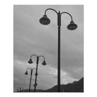 Vintage Look Lampposts B&W