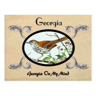 Vintage Look Old Postcard Georgia Stste