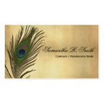 Vintage Look Peacock Feathers Elegant Pack Of Standard Business Cards