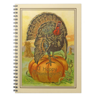 Vintage Look Thanksgiving Diary, Recipe, Menu Book Note Books