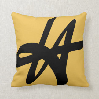 Vintage Los Angeles typography throw pillow | LA