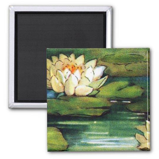 Vintage Lotus Magnet