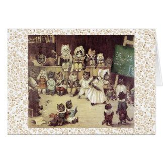Vintage Louis Wain Cat Academy Art Card