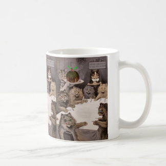 Vintage Louis Wain Cat Christmas Party Mug