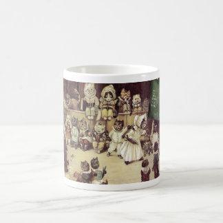 Vintage Louis Wain Cat School Art Coffee Mug