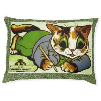 Vintage Louis Wain Cat Writer Art Pet Bed