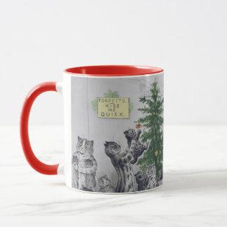 Vintage Louis Wain Cats Christmas Party Mug